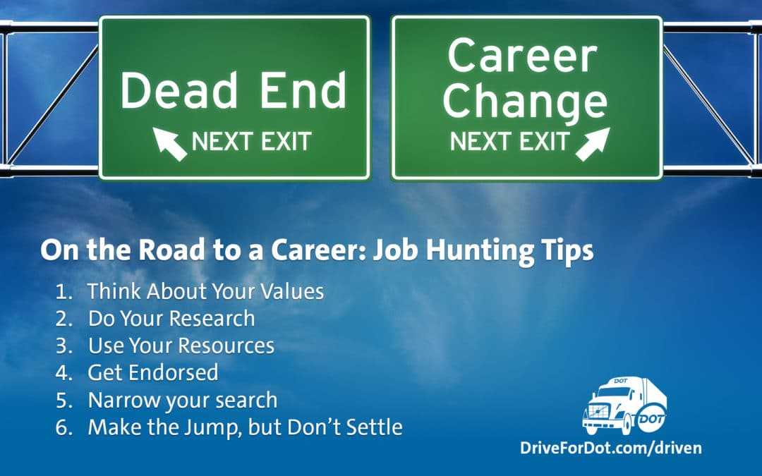 On the Road to a Career: Driver Job Hunting Tips