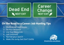 On the Road to a Career: Driver Job Hunting Tips Image