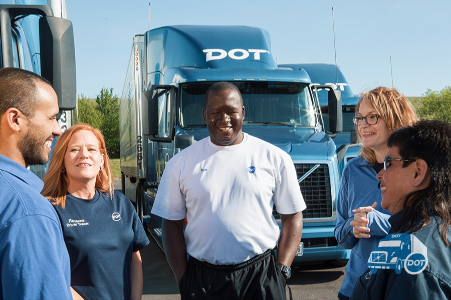 Dot Transportation drivers talking