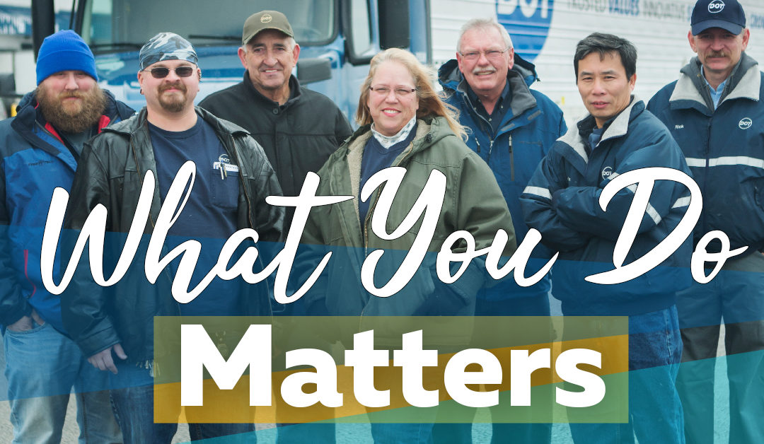 """What You Do Matters."" 