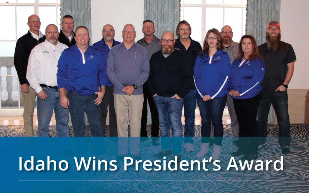 Idaho Wins President's Award with Fewest MVAs Fleet-wide