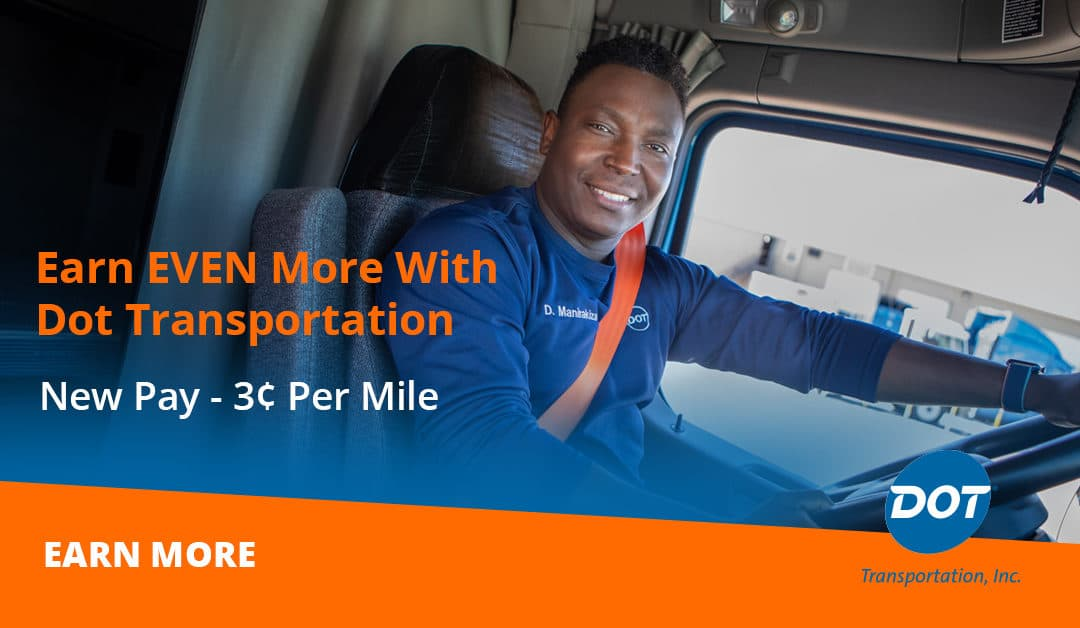 New Dot Transportation Driver Mileage Pay Increase Announced
