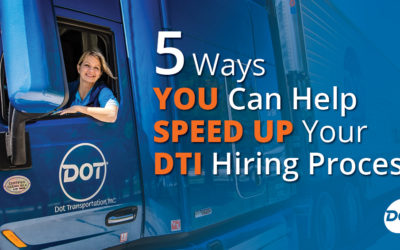 5 Tips to Speed Up Your Dot Transportation Driver Hiring Process